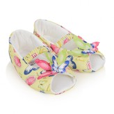 MonnaLisa MonnalisaBaby Girls Yellow Butterfly Pre Walkers