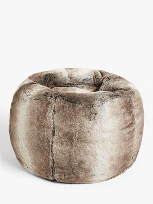 John Lewis & Partners Premium Faux Fur Beanbag, Ombre, Medium