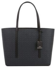 BOSS Shopper handbag in monogram-printed fabric
