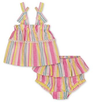 Jessica Simpson Baby Girl Ruffle Top & Shorts Outfit, 2pc set