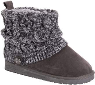 Muk Luks Women's Slouch Knit Ankle Booties - Lilleth