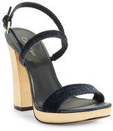 Calvin Klein Bambii Velvet Platform Sandals