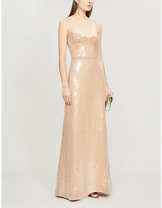 Galvan Sequinned gown
