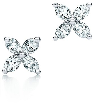 Tiffany & Co. Victoria earrings in platinum with diamonds, mini