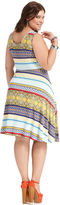 American Rag Plus Size Dress, Sleeveless Printed A-Line