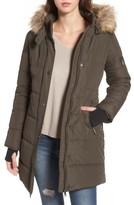 Women's Maralyn & Me Faux Fur Trim Hooded Puffer Jacket