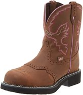 Justin Boots Justin Work Boots Womens Gypsy Steel Toe Western 8 B Aged Bark WKL9980