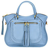 Oryany Pebble Leather Satchel with BraidingDetail - Sarah