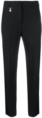 Blumarine Logo Charm Detail Cropped Trousers