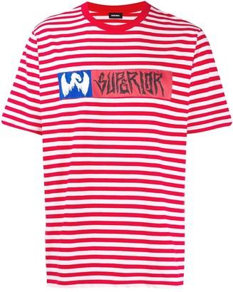 Diesel striped print T-shirt