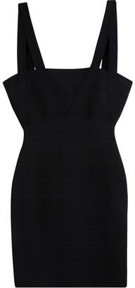 Herve Leger Black Zinnia Bandage Dress XXS