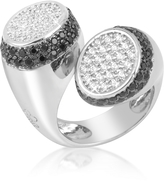 Azhar Black and White Contrarie' Ring