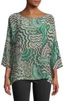 M Missoni Zigzag Mosaic Silk Top