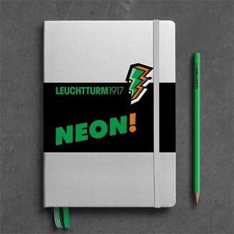 Leuchtturm1917 Medium (A5) Dotted Hardcover Journal Neon Green