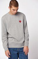 Poler Furry Heart Crew Neck Sweatshirt