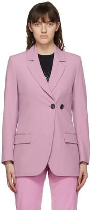 MSGM Pink Two-Button Blazer