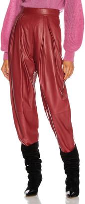 Alberta Ferretti Leather Pant in Red | FWRD