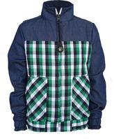 Plaid Panel Nylon Jacket