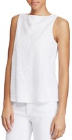 Lauren Ralph Lauren Sleeveless Geometric Embroidered Tank
