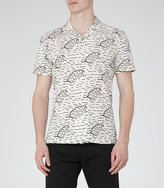 Reiss Bermuda Wave Print Shirt