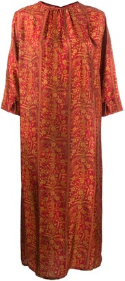 UMA WANG floral-print midi dress