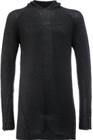 Masnada slim-fit hooded jumper
