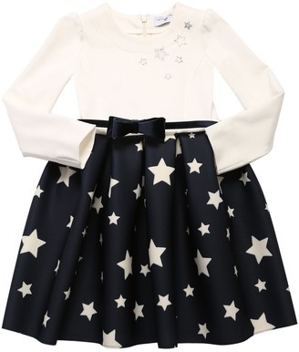 MonnaLisa Viscose Blend & Neoprene Dress