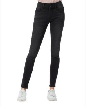 VERVET Mid Rise Double Button Skinny Jeans
