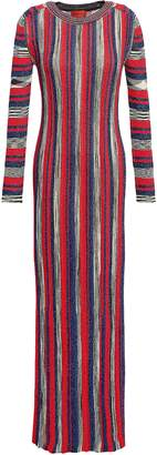 Missoni Metallic Striped Knitted Maxi Dress