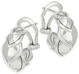 John Hardy Legends Naga Silver Buddha Belly Earrings