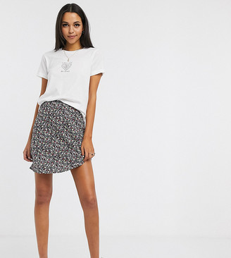 Asos DESIGN Tall mini slip skirt in ditsy floral