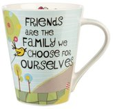 Life is Good The Good Life Friends Are Family Flight Mug, Multi-Colour