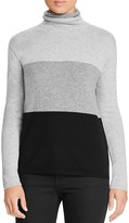 Magaschoni Color-Block Cashmere Turtleneck Sweater