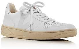 Veja Men's V-10 Leather Low-Top Sneakers