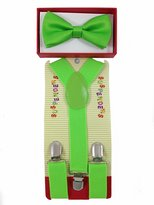 Unknown New Suspender Bow Tie Matching Colors Toddler Kids Boys Girls
