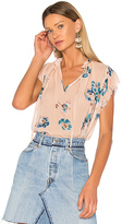 Ulla Johnson Saadi Blouse in Peach. - size 8 (also in )