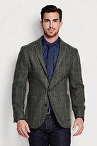 Classic Men's Tailored Fit Pattern Wool Blazer-Ultramarine