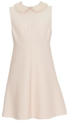 Miu Miu Collar Embellished Mini Dress