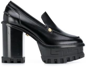 Versace Chunky 125mm Block-Heel Pumps