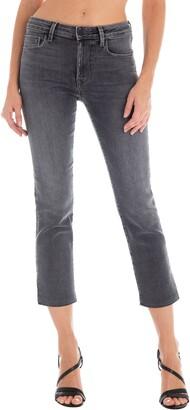 Fidelity Cher High Waist Crop Slim Straight Jeans