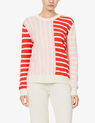 Chinti and Parker Striped wool and cashmere-blend jumper