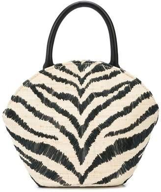 Loeffler Randall Aria zebra tote bag