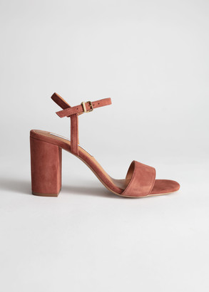 And other stories Strappy Block Heel Suede Sandals