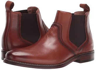 Stacy Adams Altair Plain Toe Chelsea Boot (Cognac) Men's Shoes
