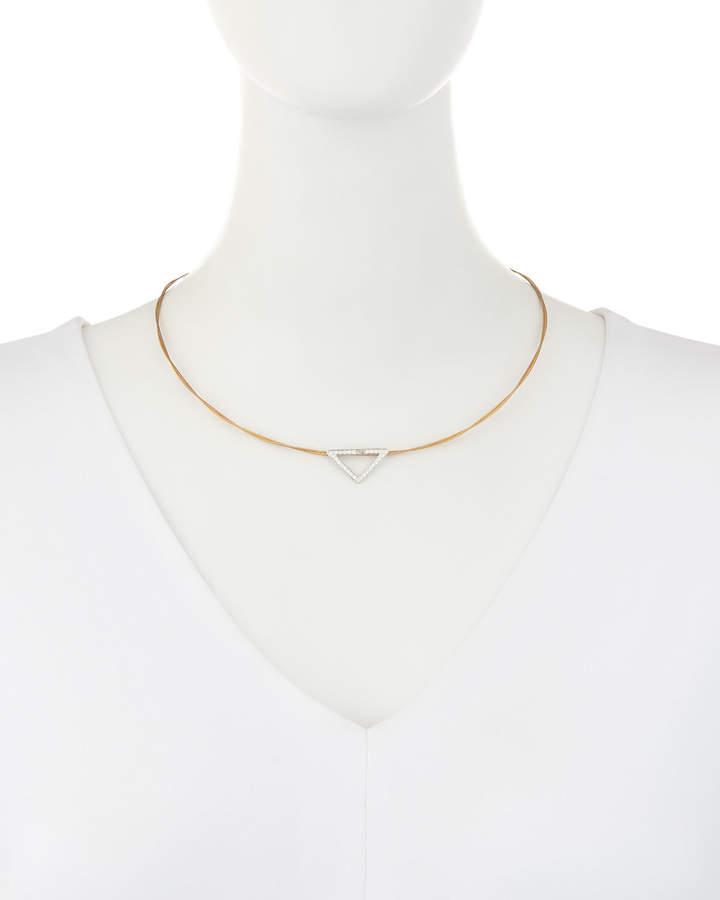 Alor Triangular Diamond Pendant Necklace