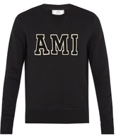Ami Logo-appliqué Crew-neck Cotton Sweatshirt