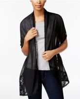 INC International Concepts Asymmetrical Lace Wrap & Scarf in One, Only at Macy's