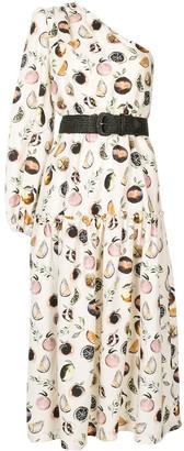 Rebecca Vallance Frutta one-shoulder midi dress