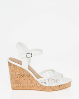 Le Château Lace Open Toe Wedge Sandal