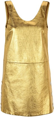 Prada Laminated Nappa Leather Mini Dress